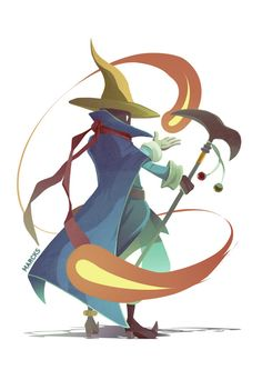 Black Mage from Final Fantasy Tactics. He looks like Vivi in FFIX.<<< they are both based on the original black Mage from FFI Final Fantasy Xiv, Moogle Final Fantasy, Final Fantasy Tactics, Final Fantasy Artwork, Beautiful Fantasy Art, Dark Fantasy Art, Elfen Fantasy, Black Mage, Fantasy Princess