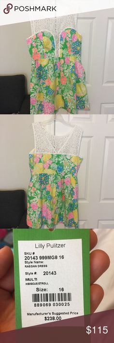 Lilly Pulitzer Reagan Dress Size 16 Hibiscus Stroll- tags not attached but never worn. Size 16, coming from smoke & pet free home. Purchased for a wedding but ending up wearing another dress. Lilly Pulitzer Dresses