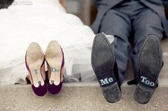 The cutest! Shoe decals for the groom too