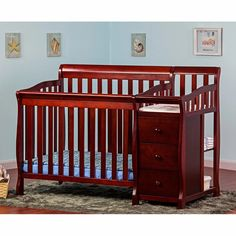 Dream On Me Jayden 4-in-1 Mini Convertible Crib and Changer | from hayneedle.com