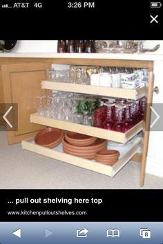Kitchen pullout shelves