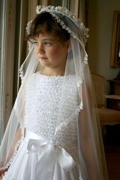 When a girl has her first communion, her communion dress is meant to be special, elegant, and like the holy communion event itself, unforgettable. Daughters, Sons, Girls Dresses, Flower Girl Dresses, Transgender Girls, Communion Dresses, Heaven Sent, First Holy Communion, Beautiful Boys
