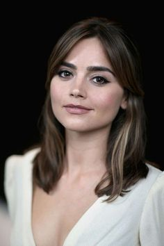 "Jenna-Louise Coleman Photos - 'Doctor Who' actress Jenna Coleman poses for a portrait at the BFI Southbank as he attends the London Premiere of ""Doctor Who"" at BFI Southbank on August 2014 in London, England. - 'Doctor Who' Premieres in London Blackpool, Doctor Who Companions, London Tours, Clara Oswald, Shows, Mannequins, Beautiful Actresses, Makeup Inspiration, Style Inspiration"