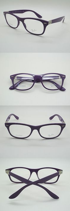 617d636a8a Eyeglass Cases  New Ray Ban Rb 7032 5437 Purple Eyeglasses Rx Frames Rayban  Rb7032 Sz