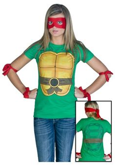 Womens Ninja Turtle T-Shirt- and paint my hair and face green