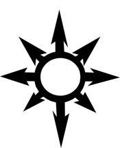 Chaos symbol. Want this on my left foot