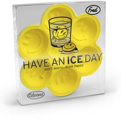 Have An Ice Day smiley face ice tray mold from Fred & Friends brings a warm smile to your cold drink. Mold your ice into little smiley faces on this convenient tray. Ice Cube Molds, Ice Cube Trays, Ice Tray, Ice Cubes, Ice Lolly Recipes, Yellow Octopus, Smiley Happy, Fred, Glass Molds