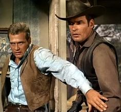 LEE  MAJORS  AND  PETER  BRECK  AS  HEATH  AND  NICK  BARKLEY  ON  THE  BIG  VALLEY