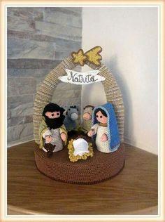 Crochet Christmas Decorations, Christmas Crochet Patterns, Crochet Animal Patterns, Felt Christmas Ornaments, Christmas Nativity, Handmade Ornaments, Christmas Knitting, Stuffed Animal Patterns, Christmas Crafts