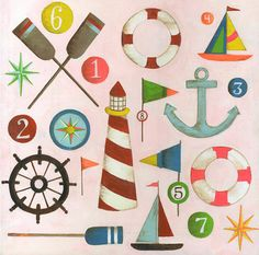 Nautical painting-- these would be cute painted on coasters