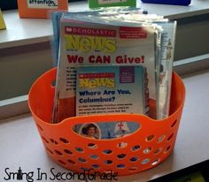 Laminate Scholastic News and use them as Non-Fiction reading in bookbags