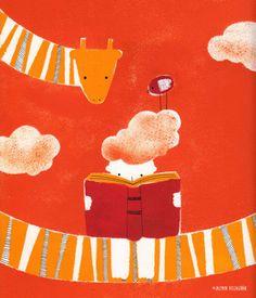 Cuando leo… me siento en las nubes (ilustración de Jazmin Villagrán Miguel)