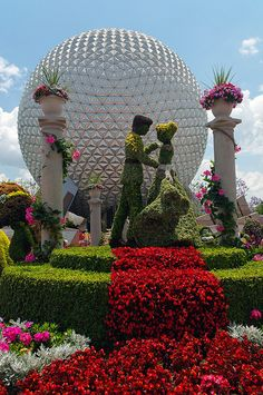 Topiary and Flowers by mstoy, via Flickr