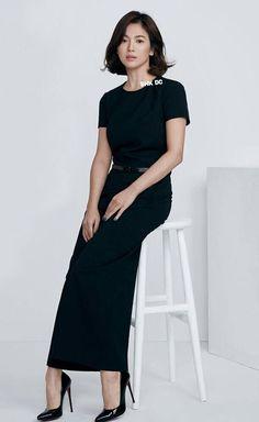Korean Celebrities, Beautiful Celebrities, Korean Actresses, Korean Actors, Song Hye Kyo Style, Classy Dress, Beautiful Asian Girls, Asian Fashion, Kpop Girls