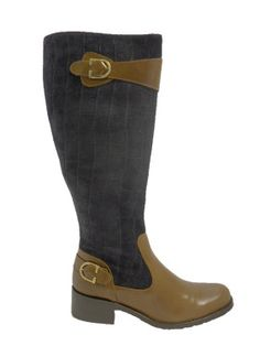 Vitti Love 6318 Navy & Tan Leather Boot