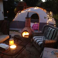 Backyard camping.