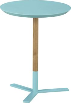 discus aqua side table