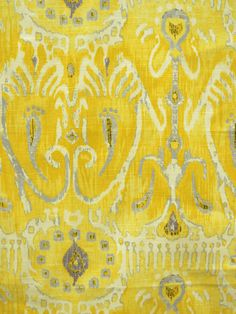 Cerva Lemon- Forsyth fabric - I'm learning to like yellow; though I like gold I have a hard time warming up to bright colors...but I like this...in small doses ;)