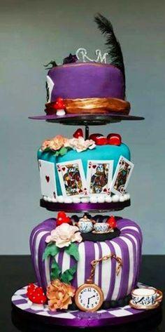 Alice In Wonderland Hats Cake