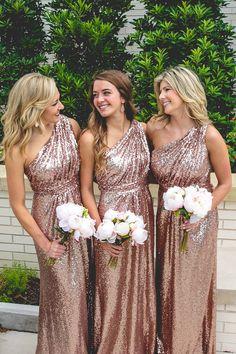 Sequin Bridesmaid Dress, Dress for Wedding, One Shoulder Bridesmaid Dress, Floor-Length Bridesmaid Dress, #bridesmaiddress