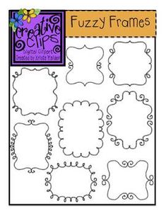 Included are 8 fun and fuzzy frames that are perfect for product covers, task cards, worksheets, classroom bin labels and more! These would be a great little touch to a monster-themed resource or classroom!$
