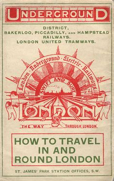 Credit: London Transport Museum The cover of a pocket London Underground map…