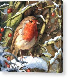 Winters Friend Canvas Print / Canvas Art by David Price Canvas Art, Canvas Prints, Art Prints, Friend Canvas, Friends Poster, Christmas Wall Art, Christmas Poster, Art Pages, Bird Art