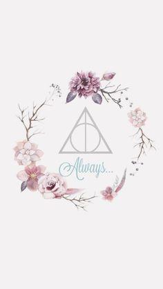 Wallpaper Harry Potter Always Pink Girly Cute Flowers Dealthy Hallows Harrypottermeme Harrypotter