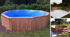 Make your very own swimming pool from 9 pallets