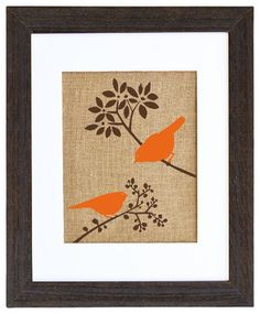 Autumn Birds Art - eclectic - prints and posters - Fiber and Water