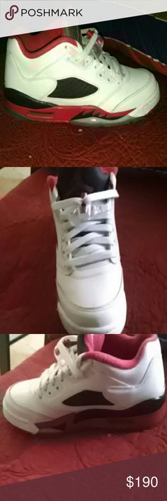 Jordan retro 5 fire red It's new and used once Jordan retro 5 fire red brand new used once  Shoes Athletic Shoes