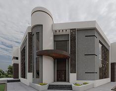 Render Design, Facade Design, Modern Villa Design, Mansions, Architecture, House Styles, Home Decor, Arquitetura, Decoration Home