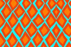 tangerine & turq Love this