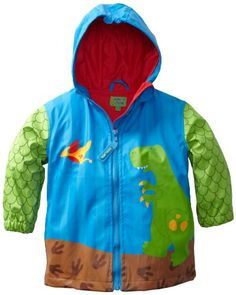 This Toddler Rain coat for boys has a soft polyurethane outer shell with a lightweight cotton lining that will keep your child warm and comfortable when it is raining outside.  It also features a hood for keeping your toddler's head protected from the elements.  This raincoat is machine washable and comes with matching boots for a complete set.