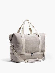 The Catalina Deluxe – Washed Canvas – Dove Grey – Large The Catalina Deluxe Large – Large Canvas Weekender – Designed by Lo & Sons Canvas Weekender Bag, Tote Bag, Crossbody Bag, Duffel Bag, Packing Shoes, The Lone Ranger, Travel Bags For Women, Living At Home, Travel Tote