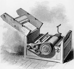 Cotton Gin is a machine invented in 1793 by Eli Whitney for separating cotton fiber from the seed. Social Studies Projects, 6th Grade Social Studies, Eli Whitney Cotton Gin, Modern World History, Industrial Revolution, African American History, Black History Month, Ancient Civilizations, Inventions
