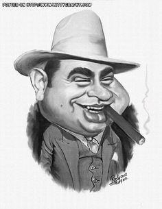 Al Capone caricatures.. This is great.
