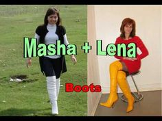 Lovely Ladies - sexy heels, high boots - #002: Masha and Lena (Overknee-...
