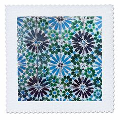 Danita Delimont - Patterns - Portugal, Sintra, Sintra National Palace, geometric ceramic tile - 12x12 inch quilt square (qs_227850_4)