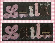 Cocalo Couture Daniella Baby Girl Hand Painted Wall Letters www.funkyletterboutique.com