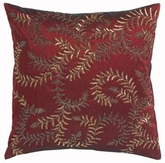 b2c13e3562ee Sequinned Cushion in Red and Gold