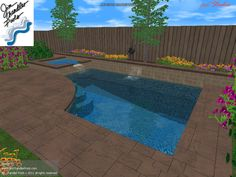 Charming House With A Small Pool | Big pools, Small pools and Yards