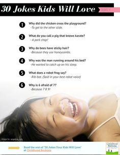 """30 of the Best Jokes Kids will Love as featured in """"The Best of EverythingMom"""" magazine."""