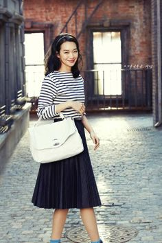 Shin Min Ah, Korean actress and model, for Zanellato 2014