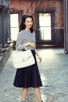 Shin Min Ah, Korean actress and model, for Zanellato 2014