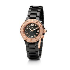Dressed with a row of sparkling crystal stones and a contrasting ceramic strap this high-shine bracelet watch by Folli Follie exudes a feminine elegance. The eye-catching design from Dorian collection instantly uplifts your most basic casual wear add Stones And Crystals, Wood Watch, Rolex Watches, Bracelet Watch, Ceramics, Accessories, Shopping, Jewelry, Hall Pottery