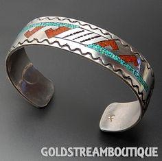 Metal: Silver Metal Purity: .925 Hallmark: Sterling Artisan: Herman Coan Tribe