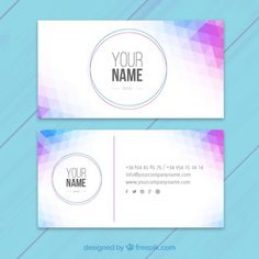 Abstract visit card Free Vector