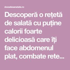 Low-calorie salad for a flat tummy - Health Dose, Low Calorie Salad, Water Retention, Flat Tummy, Paella, Salad Recipes, Weight Loss, Make It Yourself, Health, Flat Stomach