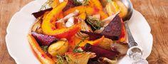 Pečená zelenina Cooking For Two, Side Salad, Ratatouille, Pot Roast, Thai Red Curry, Detox, Side Dishes, Salads, Vegetarian